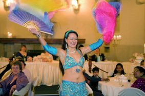 Wedding Entertainment Melbourne Belly Dancer with Fan Veils