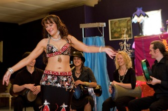 Belly dance to live drumming Melbourne